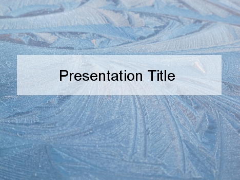 Ice Feathers PowerPoint Template