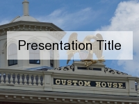 Customs House PowerPoint Template thumbnail