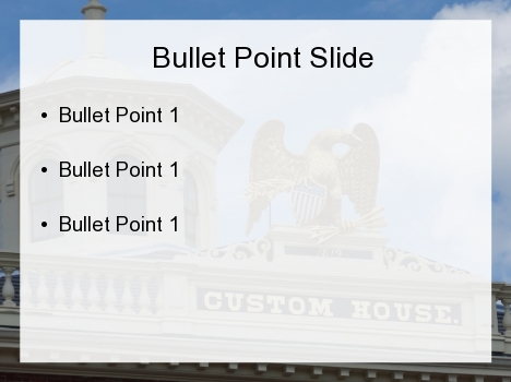 Customs House PowerPoint Template inside page