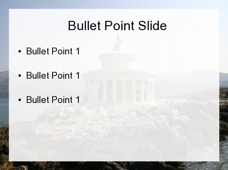 Archaic Temple PowerPoint Template inside page