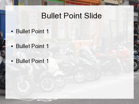 Motorcycle PowerPoint Template inside page