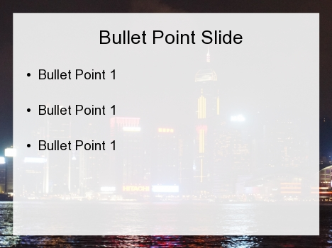 Hong Kong at Night PowerPoint Template inside page