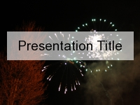 Fireworks PowerPoint Template thumbnail