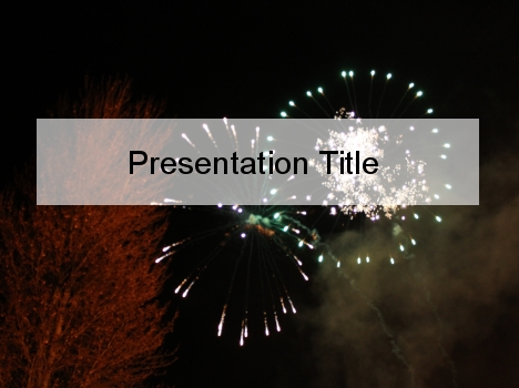 fireworks powerpoint template, Presentation templates