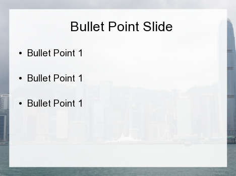 Hong Kong PowerPoint Template inside page