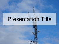 Radio Waves PowerPoint Template thumbnail