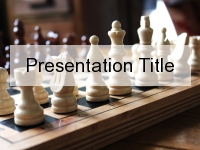 Chess Set PowerPoint Template thumbnail