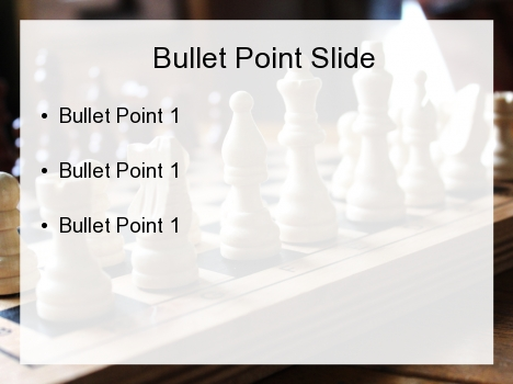 체스는 파워 포인트 템플릿을 페이지 안쪽에 설정합니다.