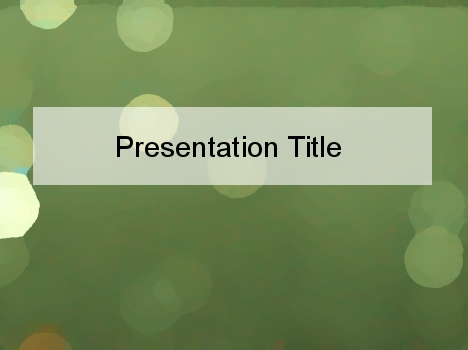 Green Haze PowerPoint Template