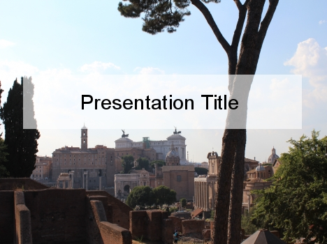 When in Rome  PowerPoint Template