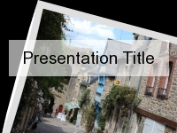 French Street Postcard PowerPoint Template