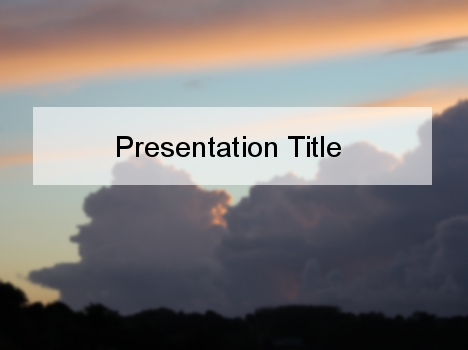 Moody Clouds PowerPoint Template