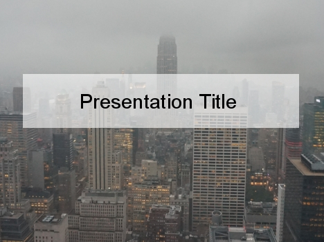 New York Skyline PowerPoint Template