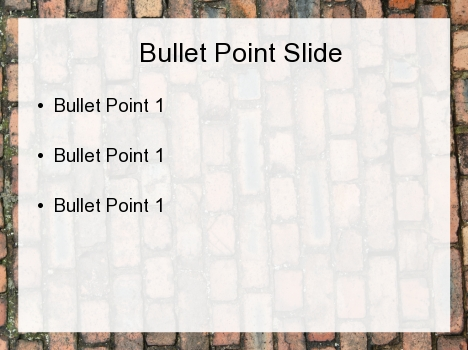 Old Brick PowerPoint Template inside page