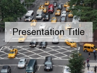 City Block Traffic PowerPoint Template