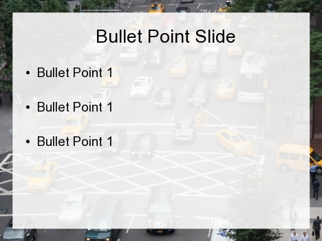 City Block Traffic PowerPoint Template inside page