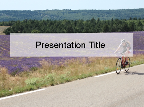 Summer Cycling PowerPoint Template