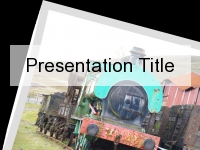 Steam Train Postcard PowerPoint Template