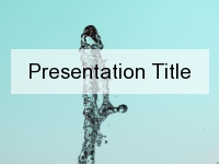Water Spurt PowerPoint Template thumbnail
