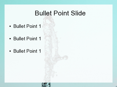 Water Spurt PowerPoint Template inside page