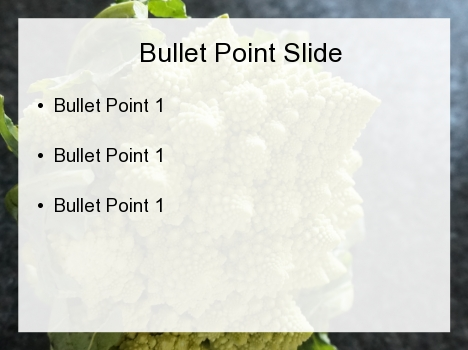 Romanesco Broccoli PowerPoint Template inside page