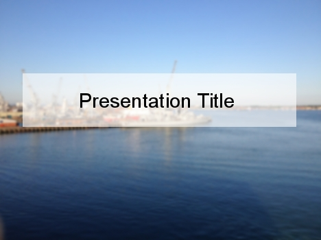 Hazy Port PowerPoint Template