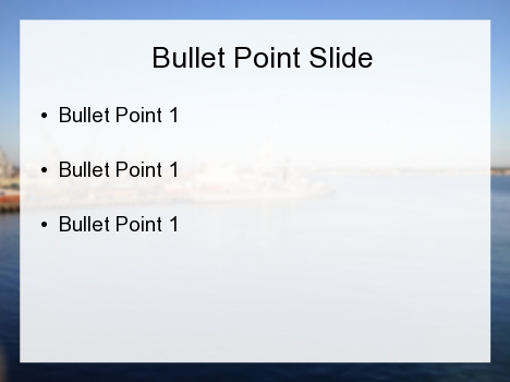 Hazy Port PowerPoint Template inside page