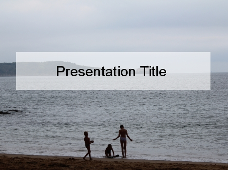 Water's Edge PowerPoint Template